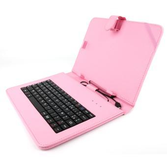 Etui rose clavier int gr azerty fran ais pour - Etui clavier tablette 10 pouces ...