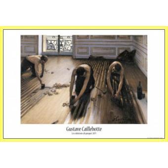 poster encadr gustave caillebotte les raboteurs de parquet 1875 61x91 cm cadre plastique. Black Bedroom Furniture Sets. Home Design Ideas