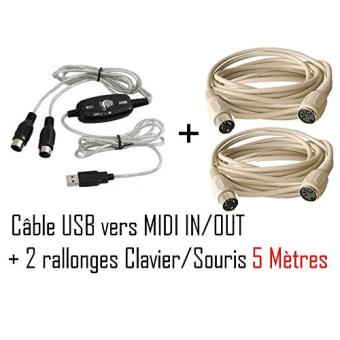 cabling pack c ble usb adaptateur pour clavier musical. Black Bedroom Furniture Sets. Home Design Ideas