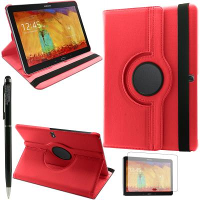 mp HOUSSE  COQUE ROTATIVE ETUI TABLETTE SAMSUNG Galaxy Tab P Rouge FILM STYLET w