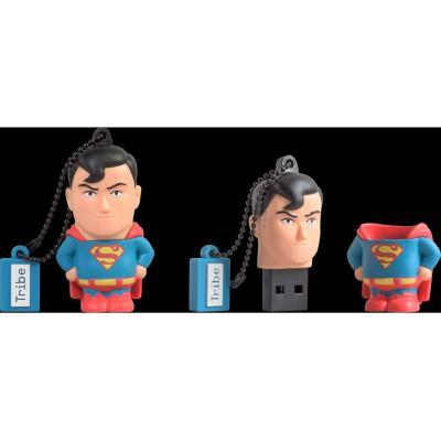 Clé USB Tribe SUPERMAN 8GO USB2.0 POINTS FORTS - capacité 8 GO - DESIGN SUPERMAN CARACTERISTIQUES - OTG : Non - Type C : Non - Lightning : Non - Micro USB : Non - Connexion WIFI : Non - Protection par mot de passe : Non - Cryptage des données : Non - Poid
