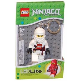 lego ninjago zane blanc porte cle mini lampe de poche achat prix fnac