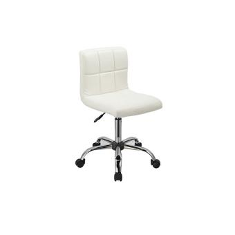 tabouret roulette avec dossier hauteur r glable coiffeur blanc tabo09033 achat prix fnac. Black Bedroom Furniture Sets. Home Design Ideas