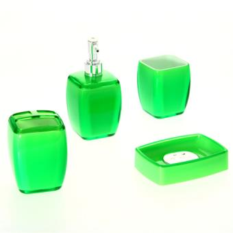 4 accessoires de salle de bain clear vert achat prix for Accessoire de salle de bain vert
