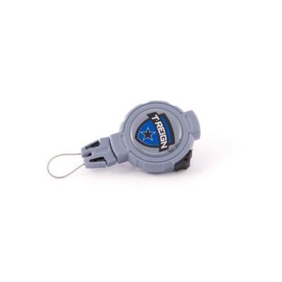 T-reign Retractable Gear Tethers & Cases Accessoire De Fixation Avec Pince À Ressort Bleu Bleu Grand pour 35€