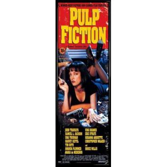 Poster de porte encadr pulp fiction affiche principale quentin tarantino 158x53 cm cadre - Porte monnaie pulp fiction ...