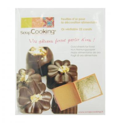 Image du produit Feuilles d´or pour la décoration alimentaire scrapcooking