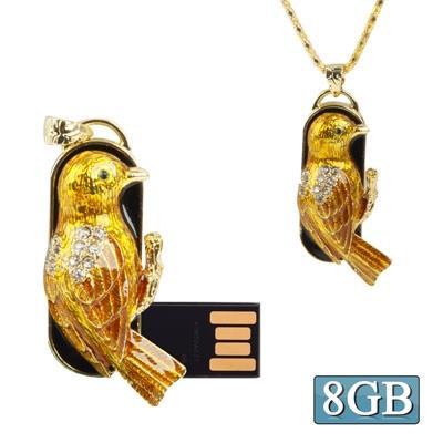 Oriole Shaped Diamond Jewelry Necklace Style USB Clé Clef USB (8GB)