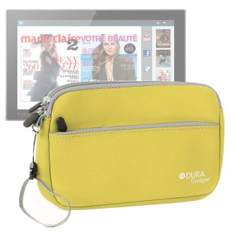 Housse tui pochette jaune pour tablette kobo arc 10 for Housse kobo arc 7