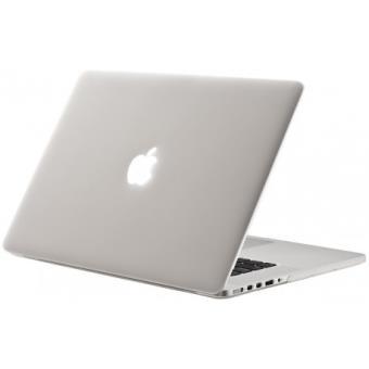 mp Coque rigide macbook pro retina  pouces a blanc mat transparent toucher velours w