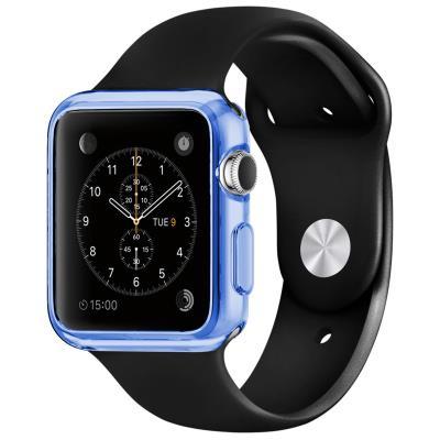 Coque Apple Watch 38mm Clear Frame Extra fine Bleue en TPU transparent protègera votre Apple Watch en toute discrétion. Une protection mélangeant couleur, brillance et transparence, pour ajouter de splendides reflets à votre Apple Watch tout en l abritant