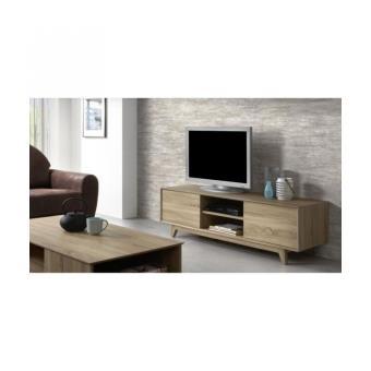 sonoma meuble tv 150 cm coloris chene clair achat prix fnac. Black Bedroom Furniture Sets. Home Design Ideas