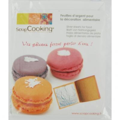 Image du produit Feuilles d´argent pour la décoration alimentaire scrapcooking
