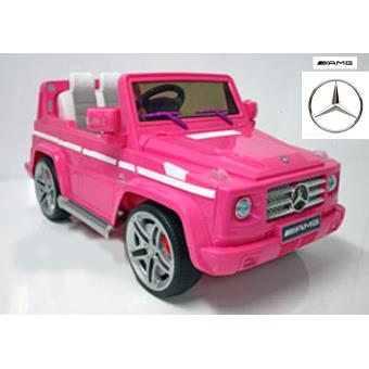 mercedes lectrique enfant 4x4 g55 rose t l commande achat prix fnac. Black Bedroom Furniture Sets. Home Design Ideas
