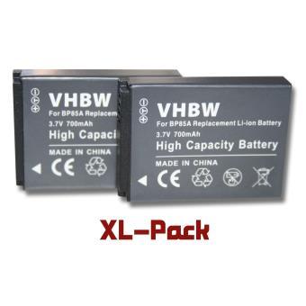 lot de 2 batteries vhbw 700mah pour appareil photo samsung pl210 sh100 st200 st200f wb210. Black Bedroom Furniture Sets. Home Design Ideas