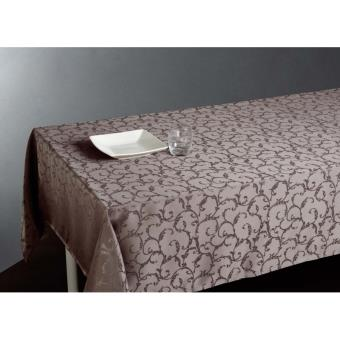 nappe anti taches rectangulaire jacquard 150 x 300 cm taupe achat prix fnac. Black Bedroom Furniture Sets. Home Design Ideas