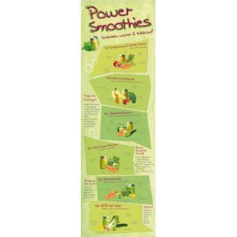 cuisine papier peint photo poster autocollant power smoothies 1 partie 250x79 cm top prix. Black Bedroom Furniture Sets. Home Design Ideas