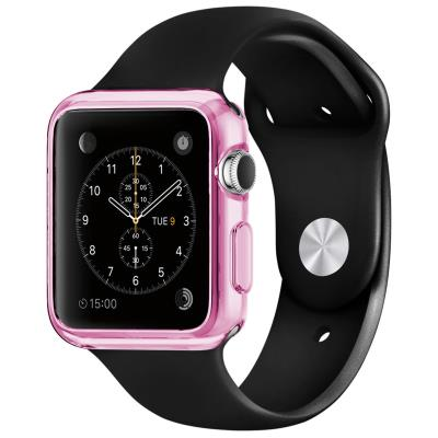 Coque Apple Watch 42mm Clear Frame Extra fine Rose en TPU transparent protègera votre Apple Watch en toute discrétion. Une protection mélangeant couleur, brillance et transparence, pour ajouter de splendides reflets à votre Apple Watch tout en l abritant