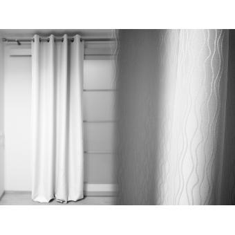 double rideau panneau oeillet 140x250 cm saturna blanc achat prix fnac. Black Bedroom Furniture Sets. Home Design Ideas