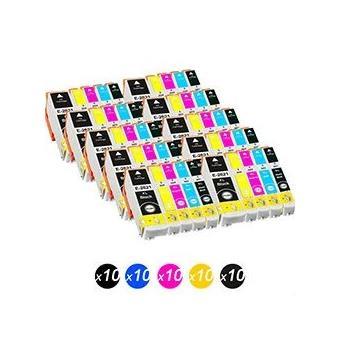 pack de 50 cartouche d 39 encre compatible pour epson t2621 t2631 t2632 t2633 t2634 xp 800 xp 605. Black Bedroom Furniture Sets. Home Design Ideas