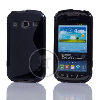 Housse coque gel pour samsung galaxy xcover 2 s7710 noir for Housse xcover 4