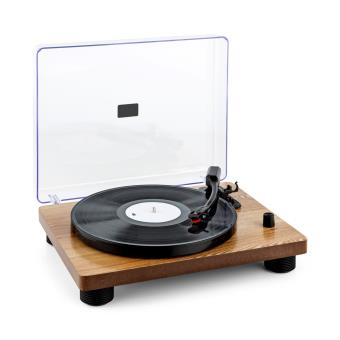 Auna tt classic wd tourne disque r tro usb line out haut parleur plaqu boi - Lecteur disque vinyle ...