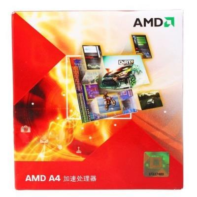 AMD A4-3400, A series. Socket de processeur (réceptable de processeur) FM1 uPGA, Fréquence du chipset 2700 MHz, Famille de processeur AMD A4. Puissance thermique 65 W Caractéristiques - Socket de processeur (réceptable de processeur) FM1 uPGA - Box Oui -