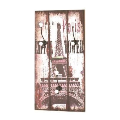 Image du produit Tour Eiffel Garderobe Murale Vintage 3 Crochets