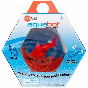 Hexbug aquabot bocal requin poisson robotique 8 cm for Bocal a poisson prix