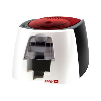 La Badgy100 est une solution tout en un qui vous permet d´imprimer à la demande vos badges et cartes personnalisées. Le pack inclue une imprimante, un logiciel de création de badge, un kit de démarrage composé d´un ruban et de 50 cartes vierges, et un sit