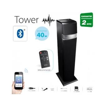 enceinte tour bluetooth multim dia tower achat prix. Black Bedroom Furniture Sets. Home Design Ideas
