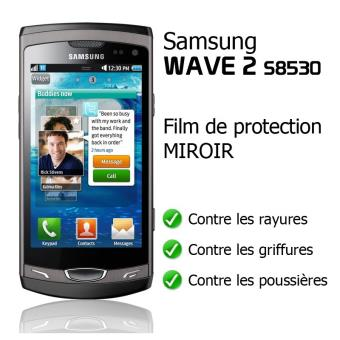 Film de protection miroir pour samsung wave 2 s8530 for Miroir tv samsung