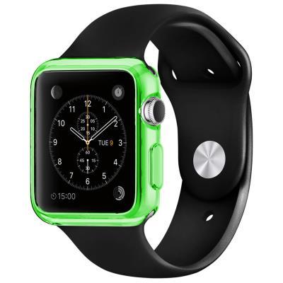 Coque Apple Watch 42mm Clear Frame Extra fine Verte en TPU transparent protègera votre Apple Watch en toute discrétion. Une protection mélangeant couleur, brillance et transparence, pour ajouter de splendides reflets à votre Apple Watch tout en l abritant
