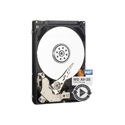 Les disques durs WD AV-25 à faible consommation d´énergie constituent le choix froid, silencieux et fiable pour les applications exigeantes de lecture et d´écriture en fonctionnement continu. Avec une interface SATA 3 Gb/s, ce disque de 2,5 pouces est idé