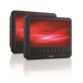 lecteur dvd portable double cran akai acvds738t achat prix fnac. Black Bedroom Furniture Sets. Home Design Ideas