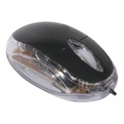 Souris optique filaire avec 3 boutons + 1 Molette avec coté transparent Avec son capteur optique de 800 DPI, elle vous offre un fonctionnement homogène sur toutes les surfaces et sans tapis de souris. Longueur du câble : 1,30 m