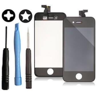 vitre tactile iphone 4s noir ecran lcd sur ch ssis outils achat prix fnac. Black Bedroom Furniture Sets. Home Design Ideas