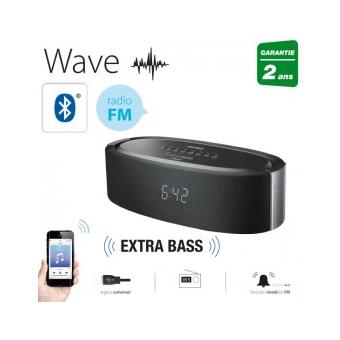 enceinte bluetooth stereo radio r veil wave achat prix fnac. Black Bedroom Furniture Sets. Home Design Ideas