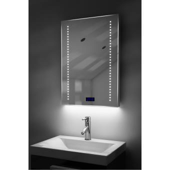 miroir salle de bain horloge num clairage rvb anti bu e capteur k184rgb achat prix fnac. Black Bedroom Furniture Sets. Home Design Ideas