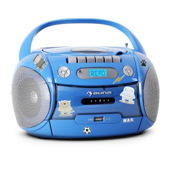 auna boomboy poste radio portable cd usb mp3 set d 39 autocollants achat prix fnac. Black Bedroom Furniture Sets. Home Design Ideas