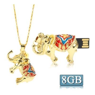 Clé USB 8GB pendentif forme éléphant (mulicolore) Clé USB 8GB pendentif forme éléphant mulicolore Description : 1. Clé USB de capacité de 8GB de bonne qualité et de haute performance. 2. La Clé USB est composée de matière plastique et est de couleur mulic
