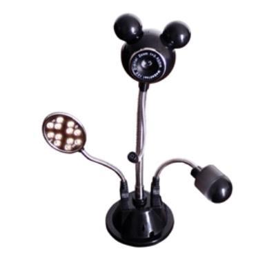 ⢠Un webcam équipé dun micro ajustable, éclairage LED et ventilateur LED ⢠640 x 480 VGA (300K pixels) ⢠Capteurs de couleurs CMOS haute résolution jusquà 2 MP avec une vitesse de trasmission rapide ⢠Webcam, ventilateur et éclairage qui sont tous dét