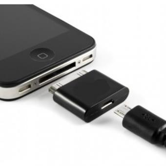 iphone 3g 3gs 4 4s adaptateur micro usb achat prix fnac. Black Bedroom Furniture Sets. Home Design Ideas