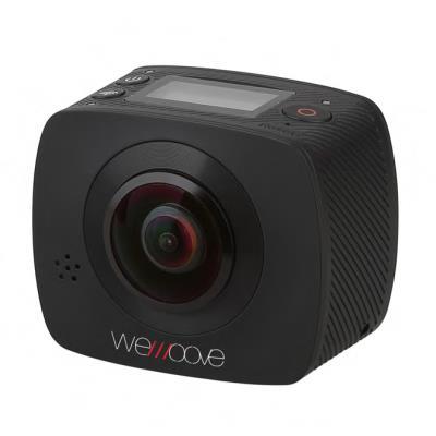 Filmer à 360° devient abordable et aisé avec la caméra WeMoove 360. Grâce à ses deux capteurs et à ses deux objectifs, elle produit une vidéo de qualité Full HD en 30 images par seconde qui filme vraiment tout autour. Les vidéos peuvent être expérimentées