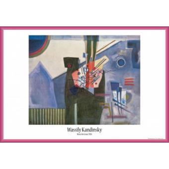 poster encadr vassily kandinsky rose dans le gris 1926 61x91 cm cadre plastique pink. Black Bedroom Furniture Sets. Home Design Ideas