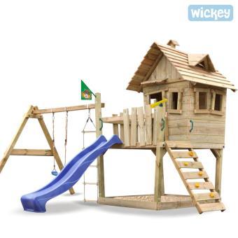 aire de jeux portique bois wickey funny farm achat prix fnac. Black Bedroom Furniture Sets. Home Design Ideas