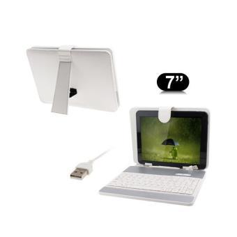 housse clavier universelle tablette tactile 7 pouces support blanc achat prix fnac. Black Bedroom Furniture Sets. Home Design Ideas