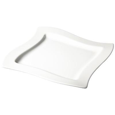 Image du produit villeroy & boch 10-2525-2647 newwave lot de 4 assiettes pour petit-déjeuner 24 x 24 cm