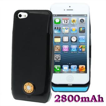 coque batterie externe de 2800mah pour iphone 5 noir. Black Bedroom Furniture Sets. Home Design Ideas