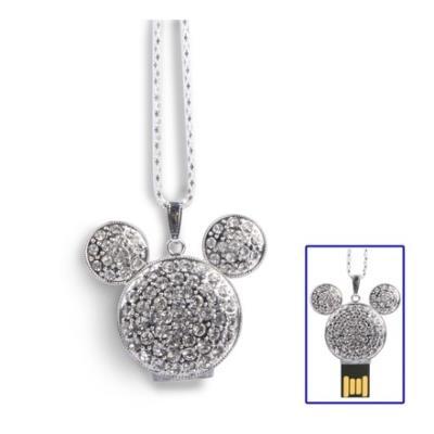 Clé USB 8GB pendentif oreilles de Mickey (argent) Clé USB 8GB pendentif oreilles de Mickey argent Description : 1. Clé USB de capacité de 8GB de bonne qualité et de haute performance. 2. La Clé USB est composée de matière plastique et est de couleur argen